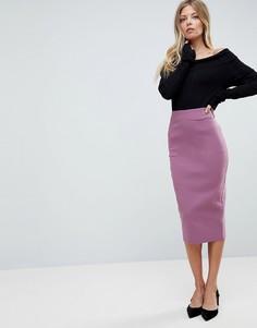 Длинная юбка-карандаш ASOS - Розовый