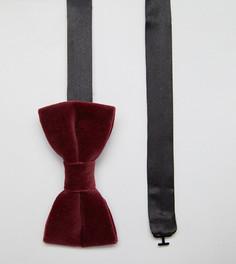 Бархатный галстук-бабочка Noose & Monkey - Красный