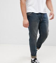 Темно-синие эластичные джинсы слим ASOS PLUS - Синий