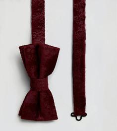 Бархатный галстук с принтом пейсли Noose & Monkey - Красный