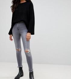 Джинсы с дырками на коленях Parisian Tall - Серый