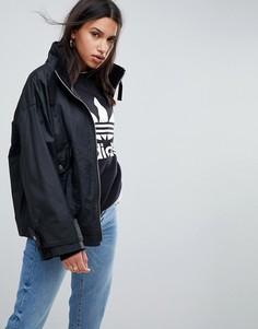 Непромокаемая куртка с вощеной отделкой ASOS - Черный