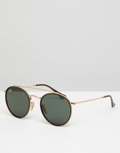 Круглые солнцезащитные очки Ray-Ban 0RB3647 - 51 мм - Золотой