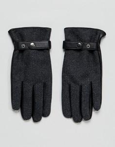 Серые кожаные перчатки ASOS - Серый