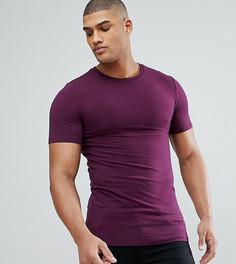 Фиолетовая обтягивающая футболка с круглым вырезом ASOS TALL - Фиолетовый
