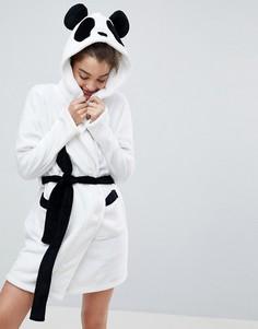 Супермягкий халат Панда ASOS - Белый