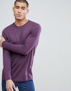Удлиненный лонгслив с круглым вырезом ASOS - Фиолетовый