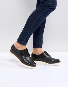 Кожаные туфли на плоской подошве ASOS MARCE - Черный