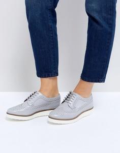 Кожаные туфли на плоской подошве ASOS MARCE - Серый