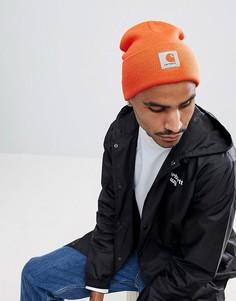 Оранжевая шапка-бини Carhartt WIP - Оранжевый