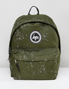 Рюкзак цвета хаки в крапинку Hype - Зеленый