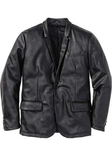 Пиджак из искусственной кожи (черный)