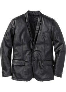 Пиджак из искусственной кожи (черный) Bonprix