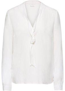 Блузка с бантом (кремовый) Bonprix