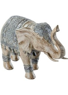 Фигурка слона (светло-серый/серый камень) Bonprix