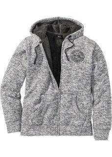 Куртка Regular Fit на плюшевой подкладке (серый меланж) Bonprix