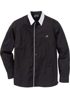 Рубашка Regular Fit (черный) Bonprix