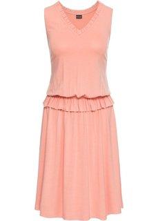 Платье из трикотажа (персиковый) Bonprix