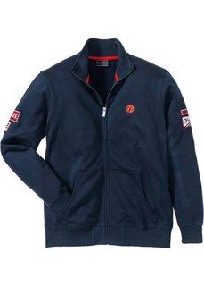 Куртка трикотажная Regular Fit с воротником-стойкой (темно-синий) Bonprix