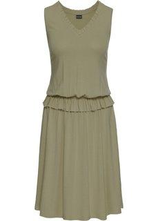 Платье из трикотажа (новый хаки) Bonprix