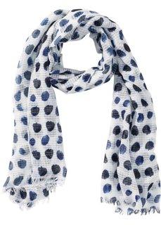 Платок в синий горошек (белый/синий) Bonprix