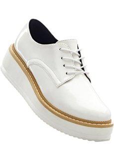 Туфли на платформе, шнуровка (белый) Bonprix