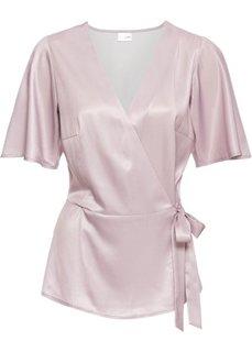 Блузка из сатина (сиреневый матовый) Bonprix