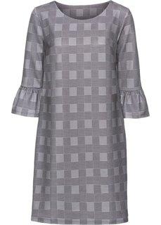 Платье с воланами (черный/белый в клетку) Bonprix