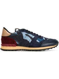 кроссовки Rockrunner с камуфляжным принтом  Valentino