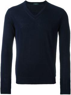 свитер c V-образным вырезом  Zanone