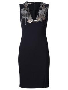 декорированное облегающее платье Roberto Cavalli