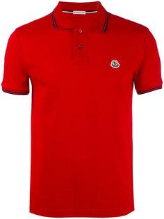 рубашка-поло с отделкой в полоску Moncler