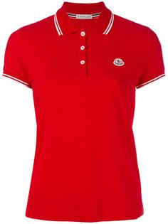 рубашка-поло с контрастной окантовкой Moncler