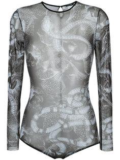 snake print sheer bodysuit Tufi Duek