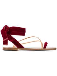 сандалии с завязками на щиколотке Valentino Garavani   Valentino