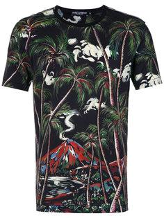 футболка с принтом джунглей Dolce & Gabbana
