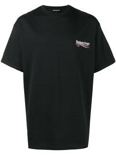 футболка с принтом логотипа Balenciaga
