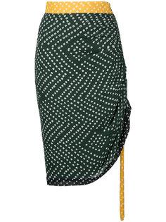 присборенная юбка с узором в горох Kitx