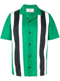 рубашка с короткими рукавами с двухцветными полосками Ami Alexandre Mattiussi