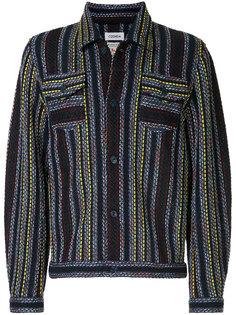 твидовая куртка с полосатым узором COOHEM