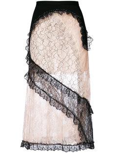кружевная юбка в стилистике пэчворк Christopher Kane