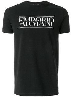 футболка с логотипом Emporio Armani