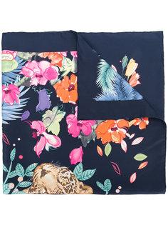 шарф с принтом джунглей Salvatore Ferragamo