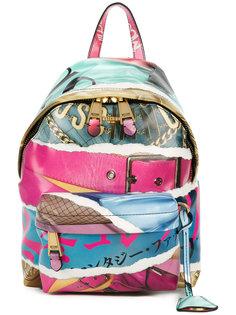 рюкзак с принтом Magazine Moschino