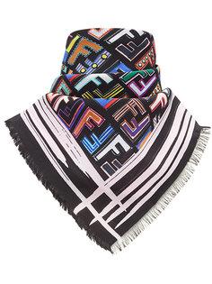 платок с принтом логотипа Fendi