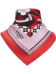 платок с цветочным принтом с логотипом Fendi