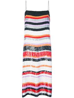 полосатое платье с пайетками Jeffrey Dodd