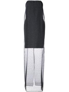 двухслойное платье без бретелей Jeffrey Dodd