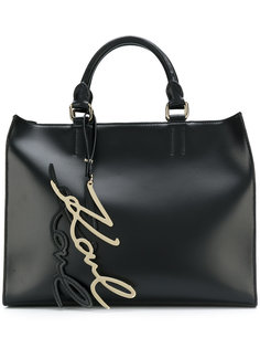 сумка-шоппер Signature Karl Lagerfeld