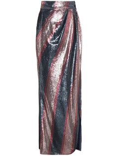 юбка макси в полоску с пайетками  Johanna Ortiz
